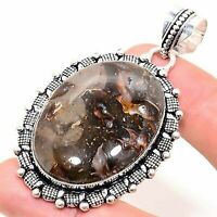 "Crystal Septarian Handmade Ethnic Style Jewelry Pendant 1.77"" VED4448"