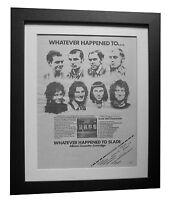 SLADE+Whatever Happened+TOUR+POSTER+AD+FRAMED+ORIGINAL 1977+EXPRESS GLOBAL SHIP