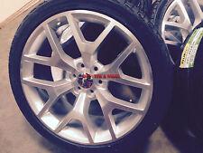 24 GMC Sierra Replica Wheels Silver Rims Tires Denali Yukon Silverado Tahoe 26
