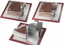Forma de triángulo Acero Cookie Pastel Rebanadora / Cortadora De 3 Pulgadas De Profundidad Con Manija