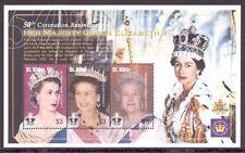 St. Kitts Nevis MiNr. 727-29 postfrisch MNH Queen Elizabeth (BL1084