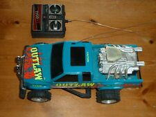 Vintage Tyco Outlaw power boost engine remote control truck. RC