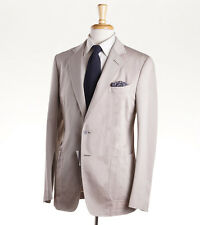 NWT $3950 TOM FORD Beige-Tan Twill Unlined Cotton Summer Suit 38 S (Eu 48c) Slim
