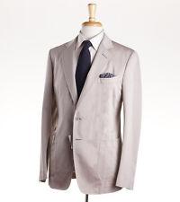 NWT $3950 TOM FORD Beige-Tan Twill Unlined Cotton Summer Suit 38 R (Eu 48) Slim