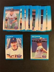 1987 Fleer Detroit Tigers Team Set 30 Cards With Update