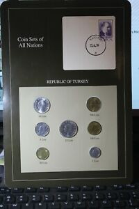 Coins Of All Nations TURKEY~1986-1992 1~5~10~25~50~100~500 Lira Gem Unc~Free Sh