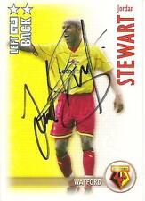 A Shoot Out card Jordan Stewart at Watford. Personally signed by him.