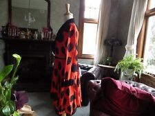 CLASSY TS DRESS COAT-DUSTER FIT &FLARE BLACK &ORANGE CIRCLE GEORGETE OCCASION 18