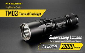 Nitecore TM03 2800 Lumens Cree XHP70 LED Rechargeable Flashlight FL-NITE-TM03
