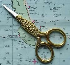 Old Gilded Style Bird Scissors For Vintage Ladies Sewing Chatelaine Accessory B