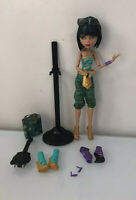 MONSTER HIGH CLEO DE NILE I LOVE SHOES DOLL W/ Accessories Complete Set HTF EUC