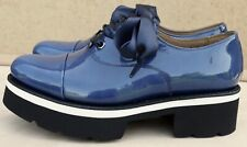 Grenson Velma dark blue patent leather lace up Oxfords UK 5 EU 38 BNIB RRP £240