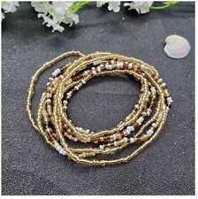 Althrorry Women Waist Chain Belly Bikini Body Jewelry Waist Chain 2 pcs