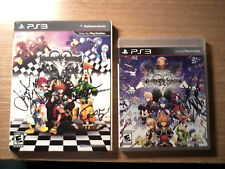 AUTOGRAPHED Kingdom Hearts 1.5 2.5 PS3 ReMix Artbook Pin Limited Ed. Goofy Axel