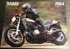 1984 HONDA SABRE MOTORCYCLE SALES BROCHURE 4 PAGES NICE  (838)