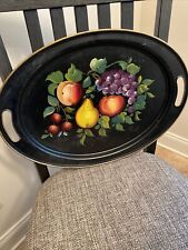 """Nashco Products Hand-Painted Toleware Tray Signed By """"Vincent�~19.5� X 14�Lovely"""