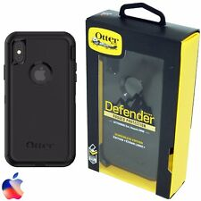 Genuine OtterBox Defender Case Tough Rugged  Cover for iPhone X 10 Black NEW
