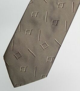 Brown Abstract Silk Tie