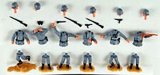Timpo 2nd Series WWII German Infantry - 6 in 6 Poses - 1970s toy soldiers