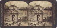 Alcazar Da Toledo Spagna Foto Stereo Stereoview di Carta Citrato Vintage