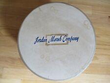 "Vintage Jordan Marsh 12""x6"" Hatbox with Soft Braided Handle Boston"