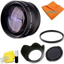 2X TelePHOTO Lens +UV FILTER+HOOD + CAP FOR CANON EOS REBEL T3 T3I XT 1000D T5I
