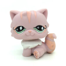 Littlest Pet Shop LPS Pink Persian Cat with Green Diamond Eyes #460