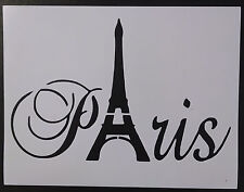 "Paris Eiffel Tower Word 11"" x 8.5"" Stencil FAST FREE SHIPPING"