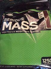 Optimum Nutrition Serious Mass Weight Gainer Protein Powder Chocolate 12lbs 8/21