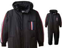 Black Snow Suit Ski Rescue Winter Coveralls High Visibility Insulated Waterproof
