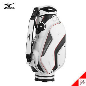 Mizuno 2021 Frame 004 Men's Golf Cart Caddie Bag 9inch 8.5lbs Metalic PU-White