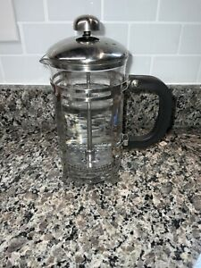 3 Cup French Press EUC Coffee Tea Stainless & Glass