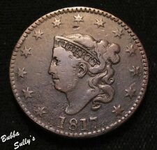 1817 Coronet Head Large Cent <> N-13 R1 'The Lazy C' <> F Details