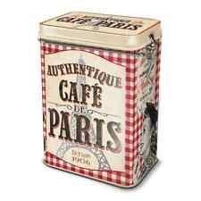 Lata de metal lata de café m. aromaverschluß cafe parís torre eiffel retro, natives