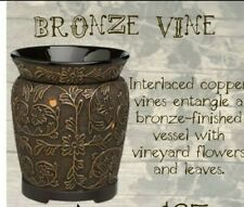 SCENTSY WARMER BRONZE VINE Wax Warmer Black gold full size