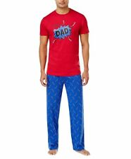 Family Pajamas Men's Super Dad Thunder Bolts Pajama Set XLarge