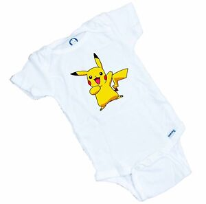 Pikachu pokemon funny Onesie / Romper. Makes a Great Shower gift FREE SHIPPING