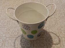 Small White Tin Pail - Easter Design