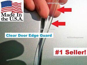 CLEAR DOOR EDGE GUARDS 2 door kit  (fits) Fiat 500 , 124 Spider