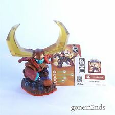 Skylanders Trap Team HEAD RUSH +CARD+STICKER TRAP MASTER Comp with Superchargers