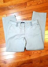 Tommy Hilfiger Womens Chino Pants Size 6 Gray Flat Front 100% Cotton