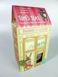 2 Boxes Tom's Teas Children's Hot/Cold Fruit Brew Rhubarb & Custard