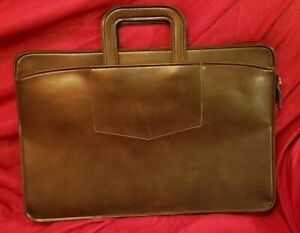 """""""Vintage Pegasus Briefcase Brown Leather"""" Made In USA (17.5 x 12 Inches) VGC"""