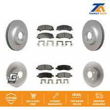 Front Rear Coated Disc Rotors & Ceramic Brake Pads Fits Buick Lucerne