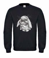Sweatshirt Unisex -Lop eared bunny rabbit sketch