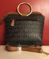 Large Black & Brown  purse and handbags large