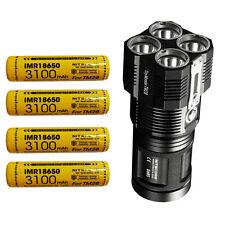 Nitecore TM28 6000 Lumen Rechargeable Flashlight w/4x Nitecore 3100mAh 18650
