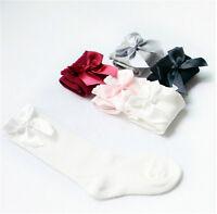 Baby Girls Socks Knee High with Bows Cute Baby Socks Long Tube Kids Leg Warmer h