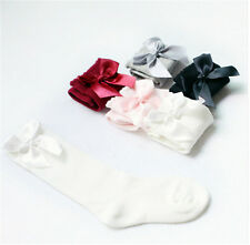 Baby Girls Socks Knee High with Bows Cute Baby Socks Long Tube Kids Leg WarmerCR