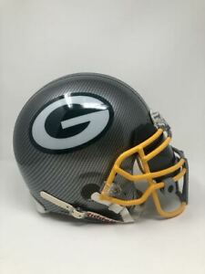 GREEN BAY PACKERS Authentic VSR4 Riddell Grey Hydro Dipped Full Size Helmet